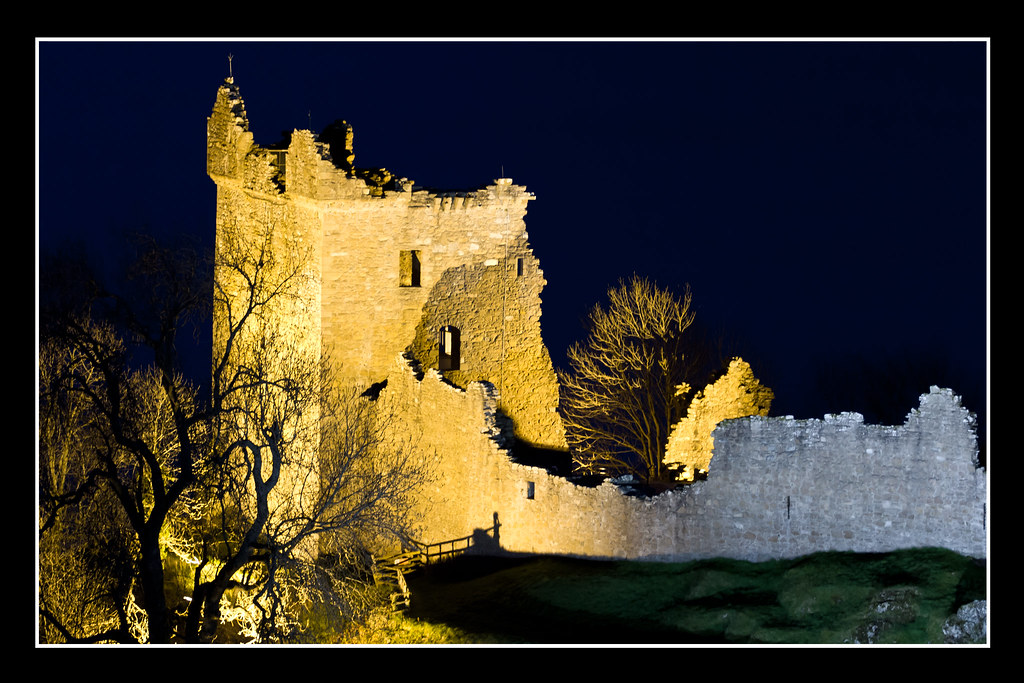 Urquhart Castle At Night Urquhart castle at night