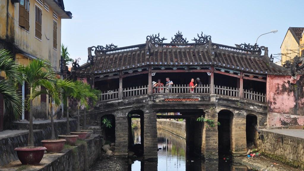 Japanese Covered Bridge Cau Chua Pagoda Hoi An Vietnam