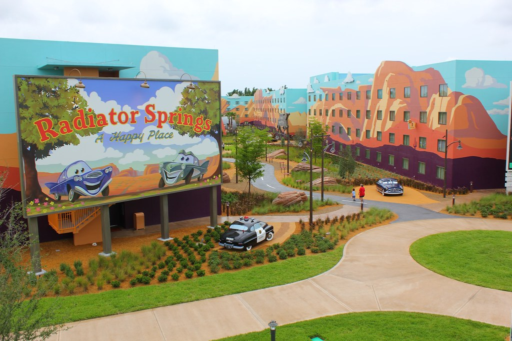 Cars Wing Of Disney S Art Of Animation Resort Inside The