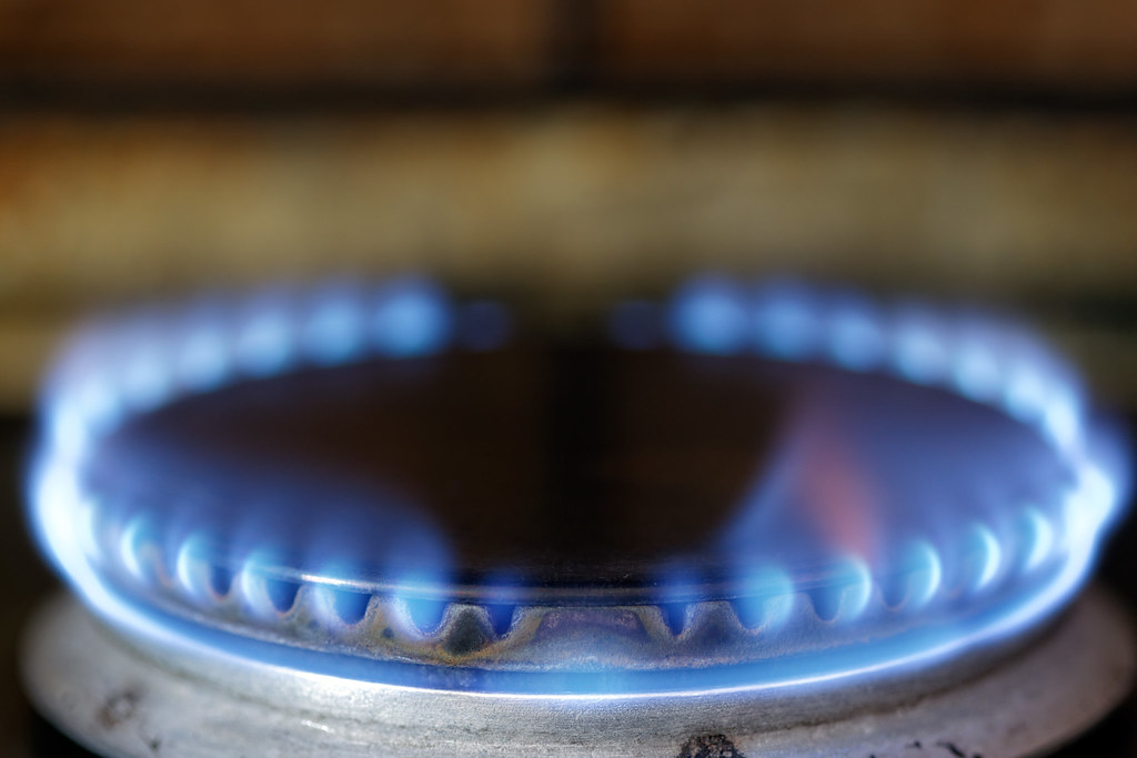 Gas Stove Flame Blue Flame Coming Out Of A Gas Stove
