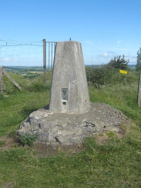 Triangulation Point, Crich Memorial, Derbyshire