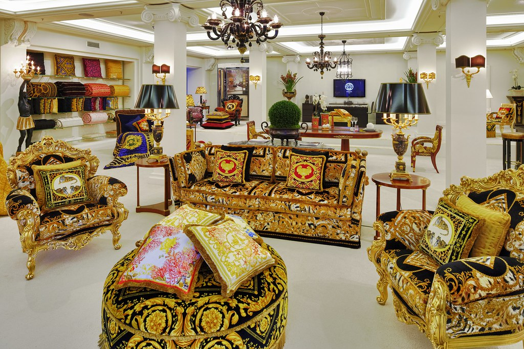 VERSACE HOME Orleans Sofa | Available at Palazzo Collezioni