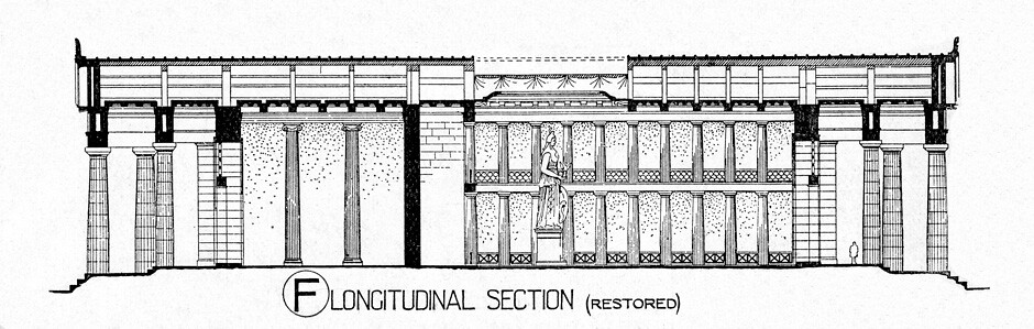 Plan Section Elevation Drawings : Parthenon reconstruction section title other