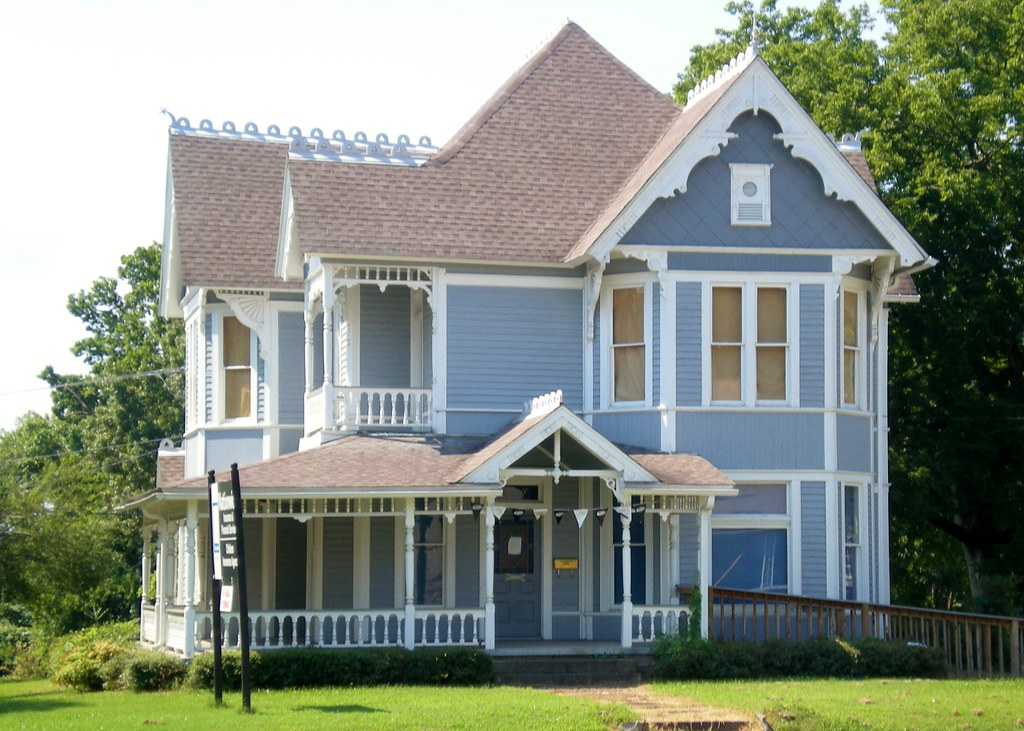 Blue victorian house clarksville arkansas flickr photo sharing
