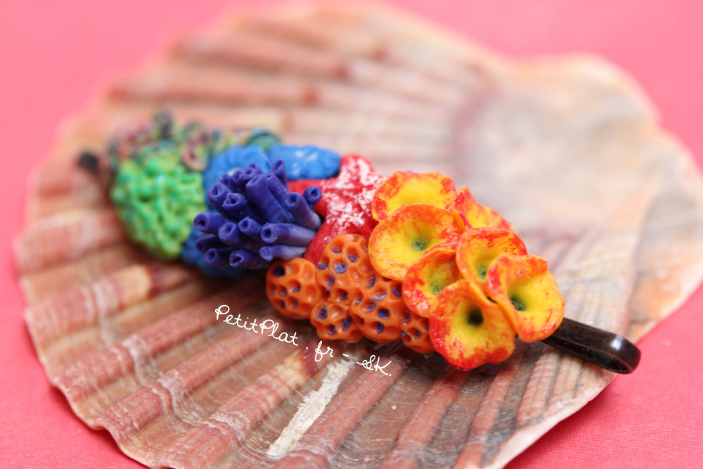 Miniature Coral Reef Hair Pin | Flickr - Photo Sharing!: https://www.flickr.com/photos/_sk/14374475564