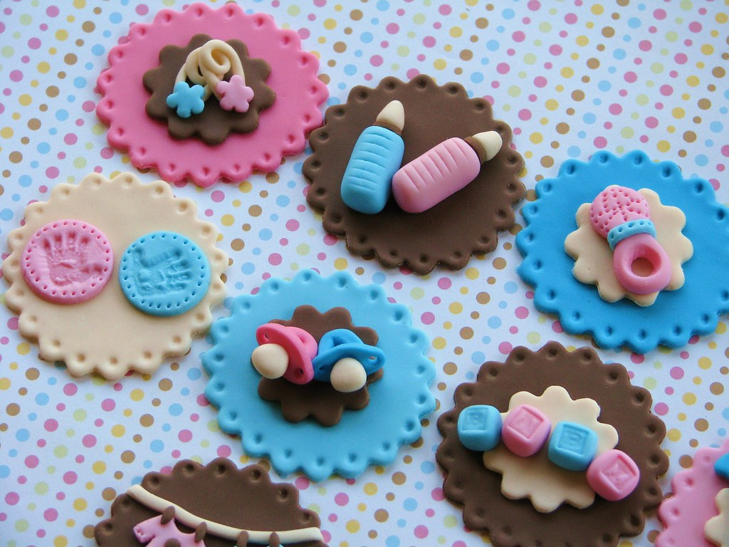 Twins baby shower cupcake toppers lynlee flickr for Baby shower cupcake decoration