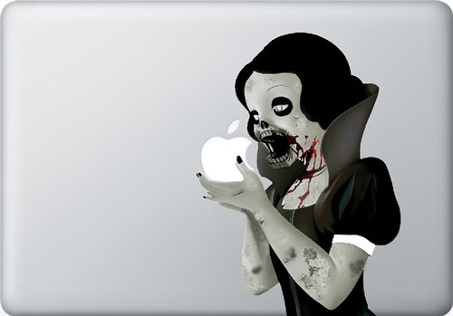 Zombie Princess Decal for 13inch MACbook - sticker - vinyl | by Trainerspotting