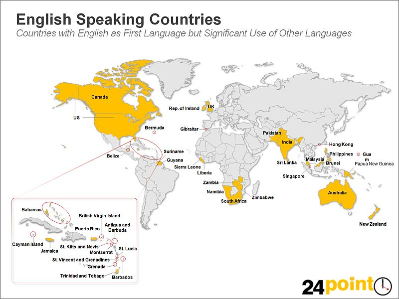 English Speaking Countries on the World Map  Countries with  Flickr
