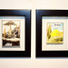 Two entries in Jordan Winery's 4 on 4 Miami Art Competition exhibition at Bakehouse Art Complex