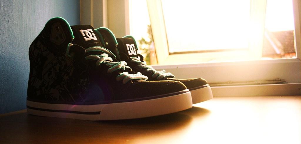 Dc Shoes Spartan Skater Shoes Black Grey White