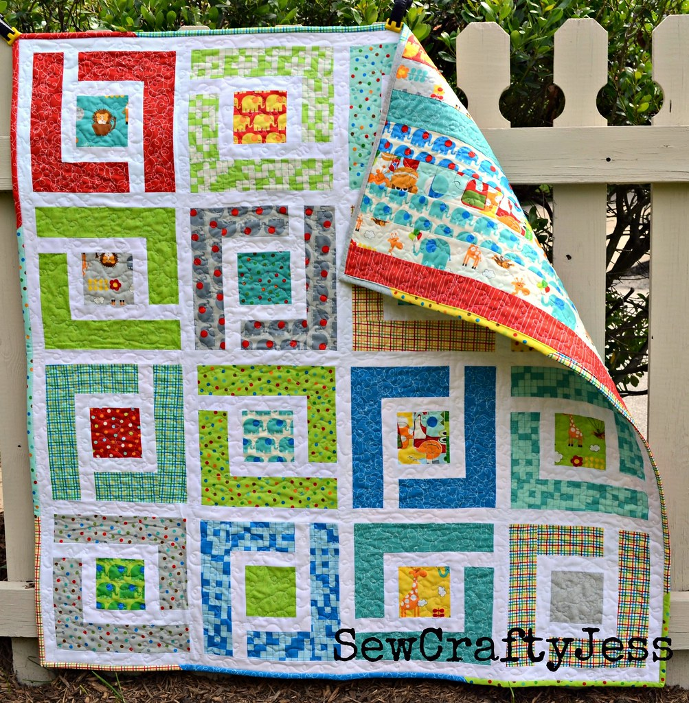 Moda Bake Shop Jungle Path Baby Quilt Tutorial Here