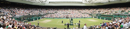 Wimbledon Centre Court Panoramic: Rafael Nadal vs Del Potro