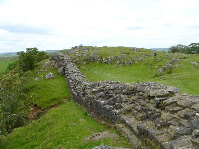 curtain wall on Walltown Crags