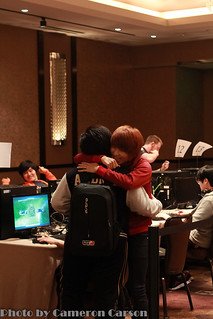 MKP hugging Leenock at IPL 4 | by Cameron Carson