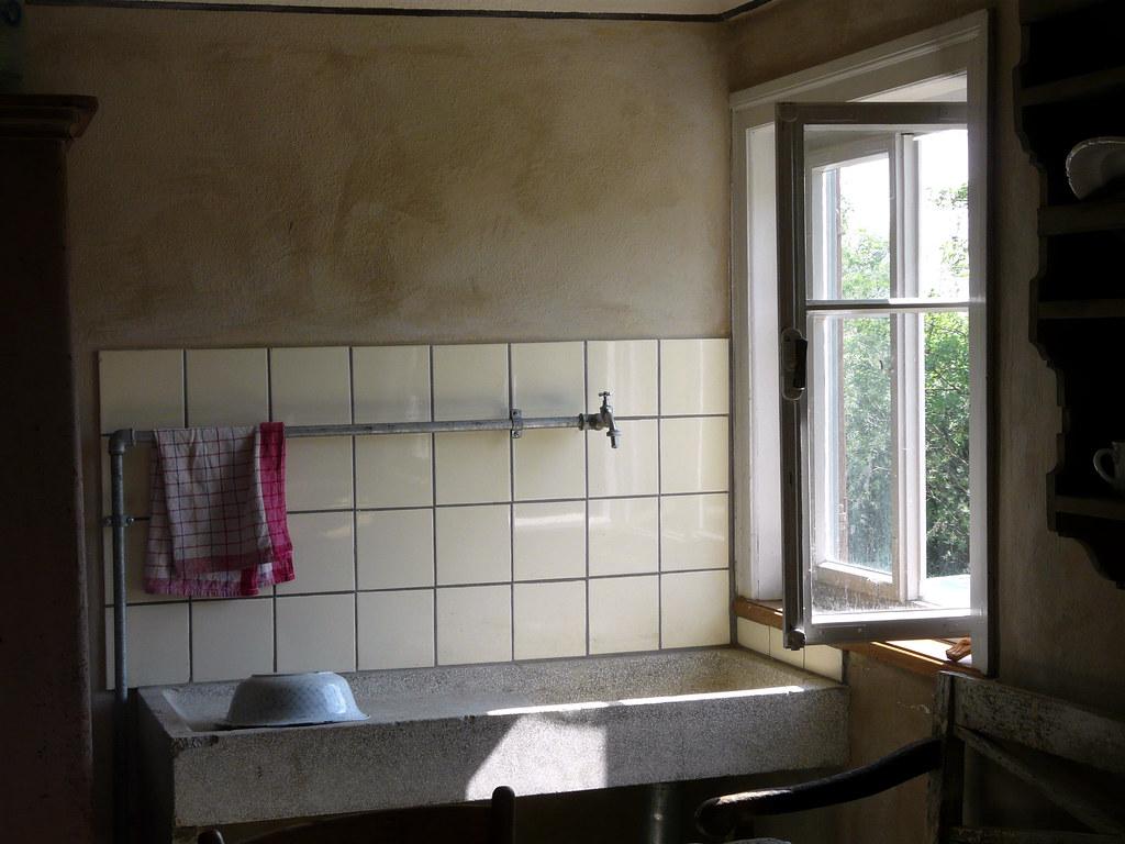 Spülstein alte Küche Freilichtmuseum Wackershofen