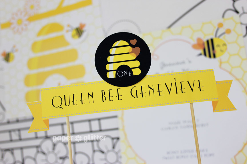 23 Printable Party Printables Bee Children Birthday Paper