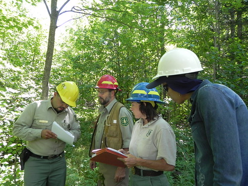 Natural resources professionals from the U.S. Forest Service