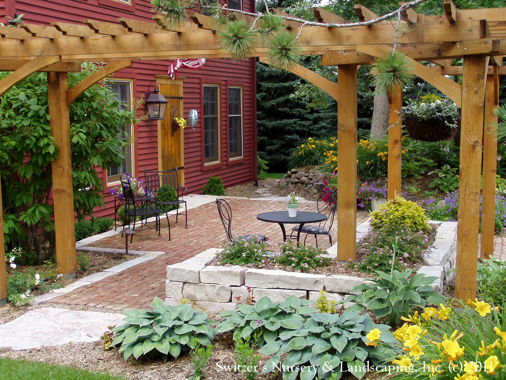 Front Yard Patio Design Pictures: Front Yard Patio & Entry Pergola On Salt Box Home