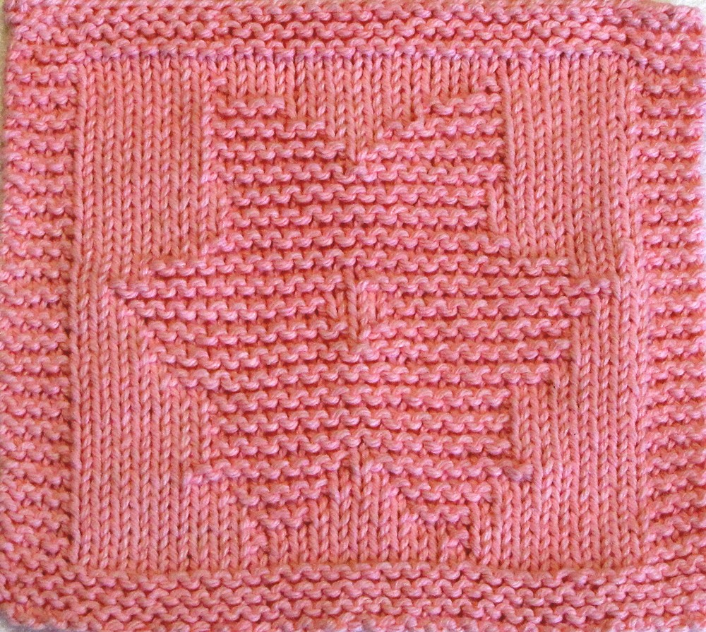 Knitting Cloth Pattern - LOTUS FLOWER - PDF Pattern ...
