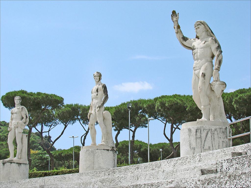 le foro italico rome statues du stade des marbres sur le flickr. Black Bedroom Furniture Sets. Home Design Ideas