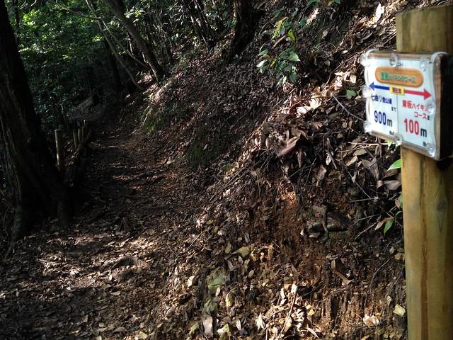 金華山 唐釜ハイキングコース 案内板