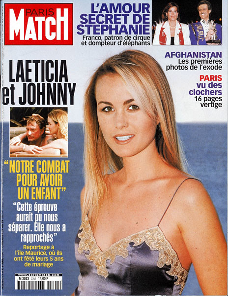 couverture de paris match n 2702 laeticia et johnny leur flickr. Black Bedroom Furniture Sets. Home Design Ideas