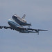 Space Shuttle Discovery over Arlington, VA