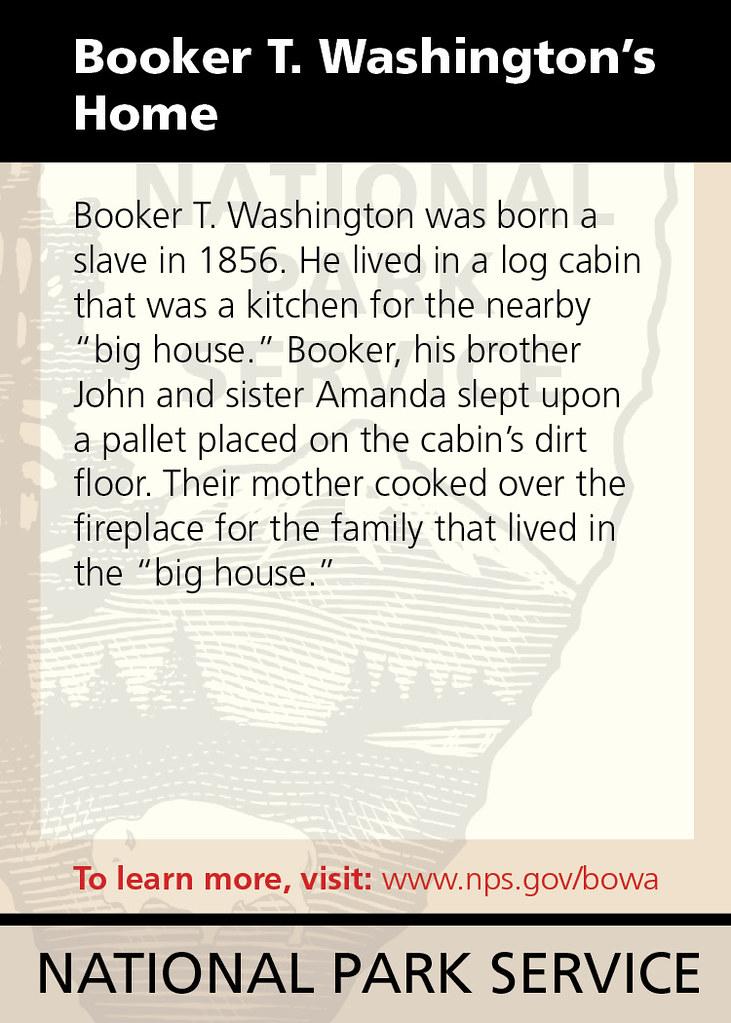 Booker T Washington S Home Booker T Washington Was