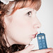 Hika in Sweet Lolita - once again with Tardis (kissing time)