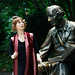 Diane and the statue of Hans Christian Andersen