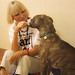 Animal Rescue Foundation Foster Volunteer Gives her Dog a Treat