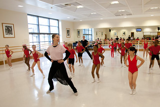 Kristen Mcnally leads a dance class as part of the Chance to Dance programme 2012 | by Royal Opera House Education