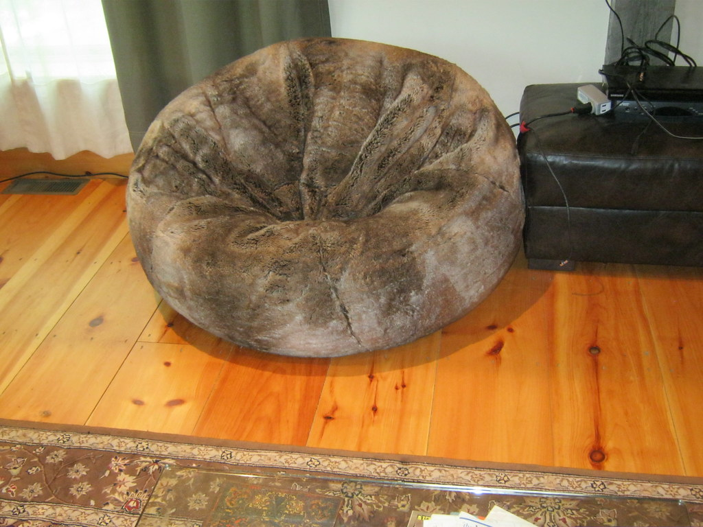 Giant Furry Bean Bag Chair From Restoration Hardware Flickr