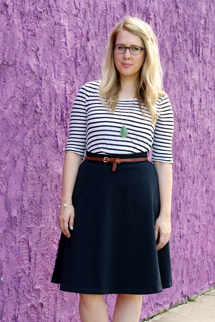 banana republic Black Midi Skirt