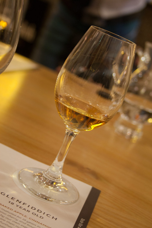 Glenfiddich whiskey tasting