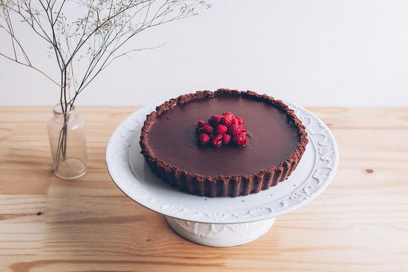 Torta de Chocolate e Framboesa