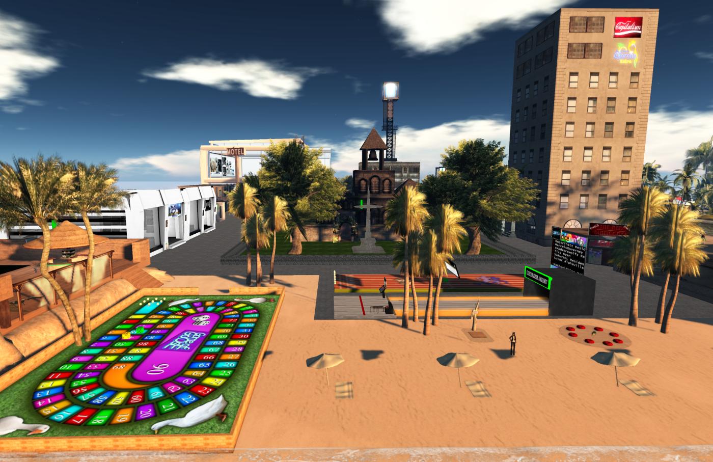 Games, beach and church at Lost Fantasy