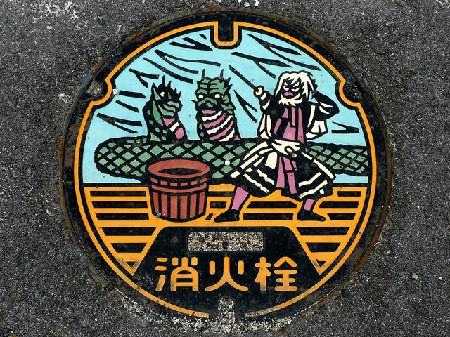 Nariwa Okayama, manhole cover (岡山県成羽町のマンホール)