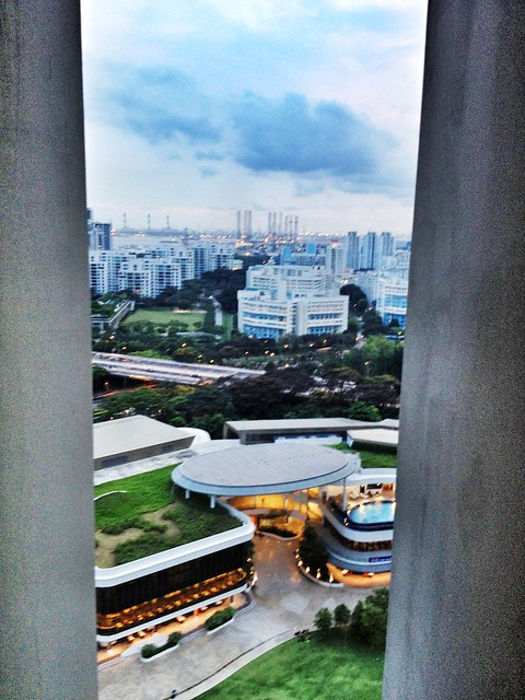 View from 21st floor of Utown Graduate Residence, National University of Singapore