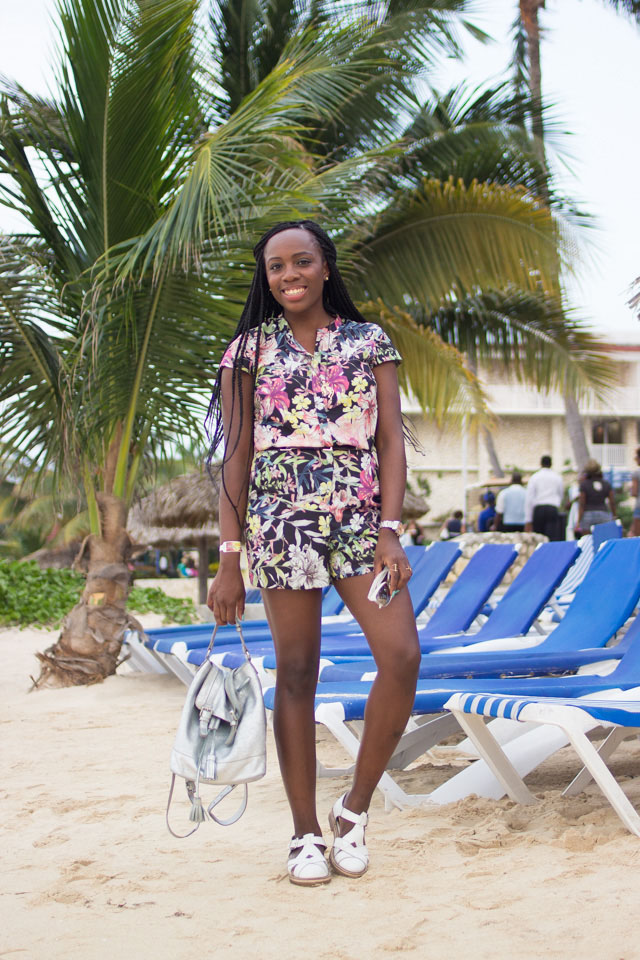 how to style a floral playsuit