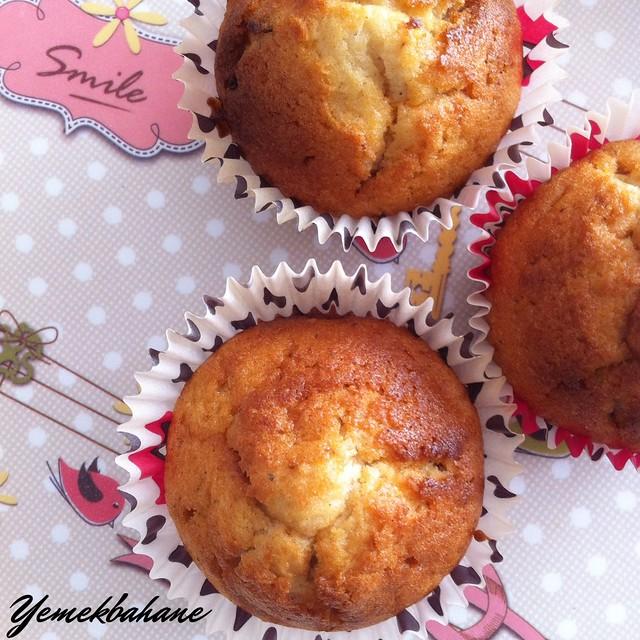 Elmalı Hurmalı Muffin