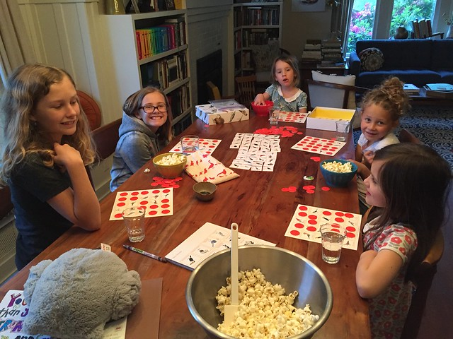 popcorn & bird bingo!