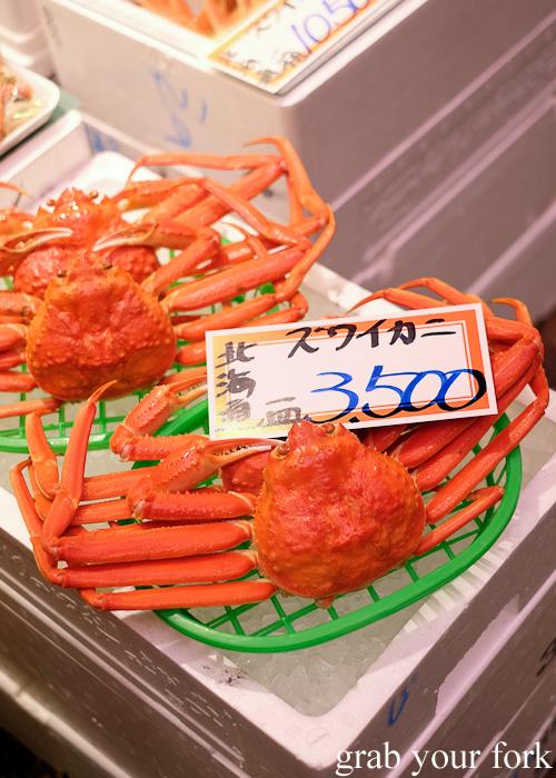 Hokkadio crab at Omicho Market, Kanazawa, Japan
