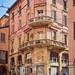 Bologna street scene, buildings