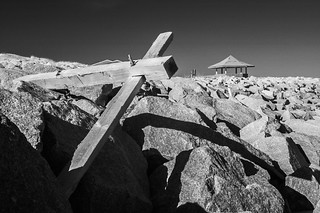 Rocks and Cross at Ft. Fisher NC | by jstrak