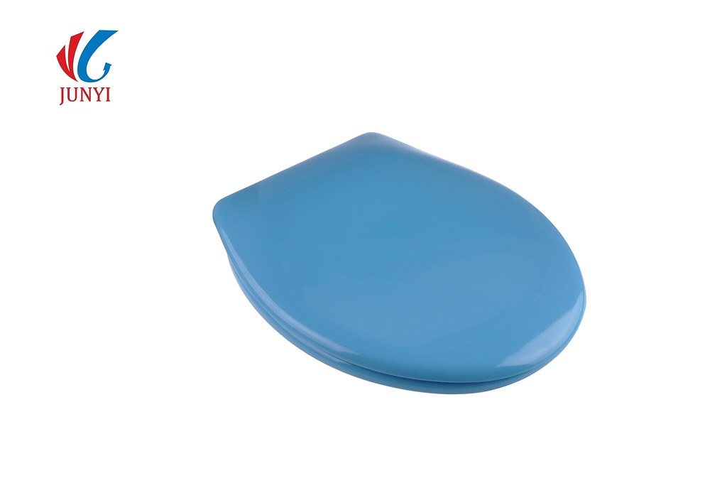 JunYi Toilet Seat Cover Soft Close Round Front In Blue Flickr