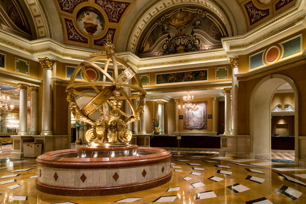 Lobby Of The Venetian Hotel Las Vegas Nevada Rick Elmore Flickr