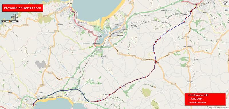 39B Penzance - Goldsithney - Leedstown - Camborne