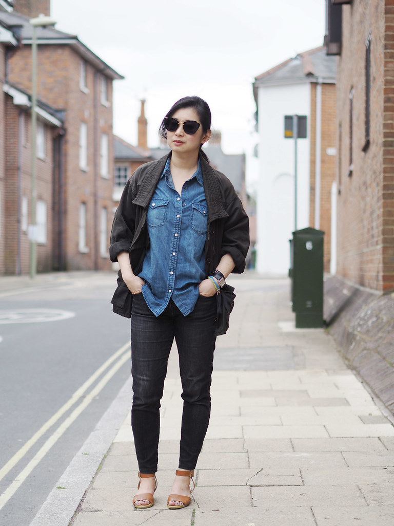 ootd-denim shirt2