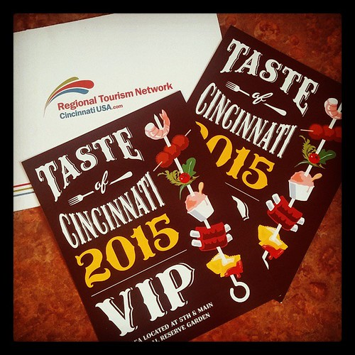 Thanks to @CincyUSA for the VIP passes to this weekend's #Taste of Cincinnati! #SPRINGinCINCY